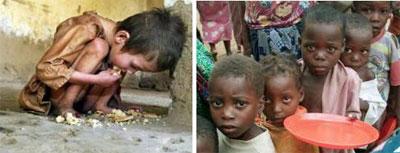 El número de hambrientos en el mundo llega a 925 millones de personas, y especialmente afecta a los niños.