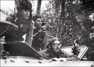 El Comandante en Jefe Fidel Castro Ruz, en los días de Girón.